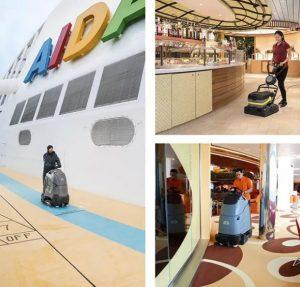 نظافت کشتی با محصولات کارچر